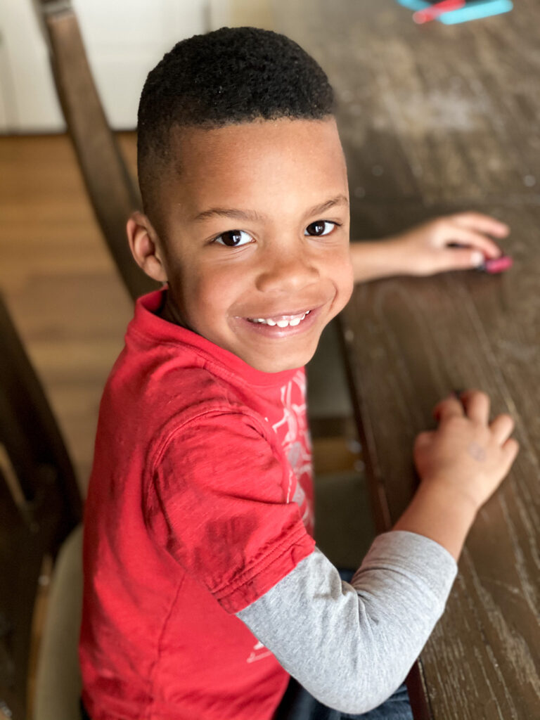 Happy Birthday, Isaiah {You are Six} bike athymeformilkandhoney.com smiling