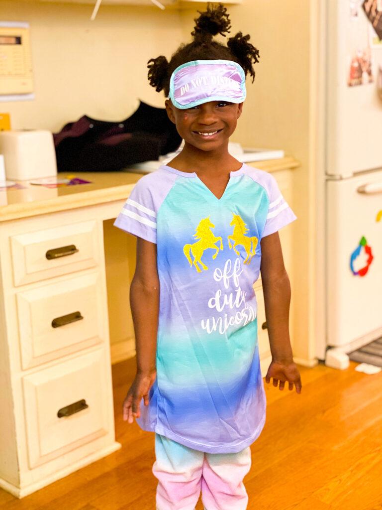 You are Five, Amiya athymeformilkandhoney.com #birthday #fiveyearsold #Amiya unicorn PJs