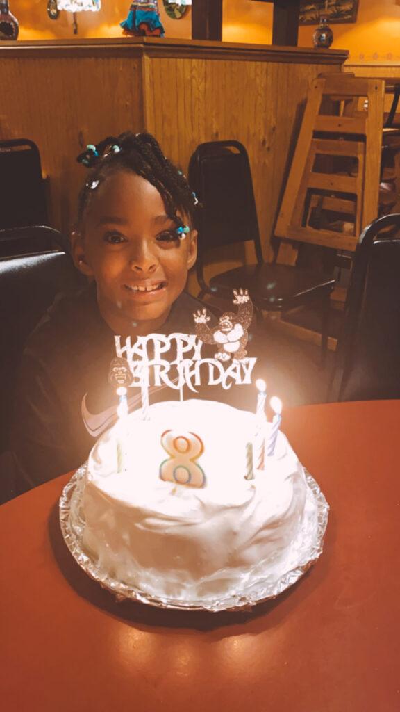 This is Eight athymeformilkandhoney.com #adoption #birthday Samarah cake